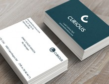 Look Curious ApS business card