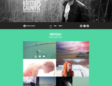Portfolio design for Kristaps Caunitis